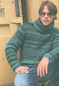 Пестрый свитер с центральным узором